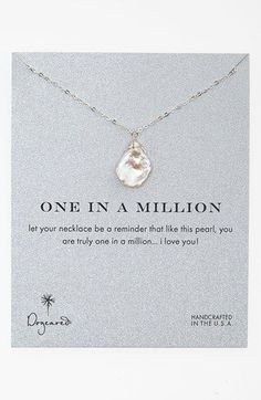 Dogeared 'One in a Million' Boxed Keshi Pearl Necklace   Nordstrom