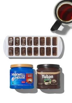 Coffee, Cubed – Don't dump your leftover cup of joe! Pour cooled coffee into ice cube trays and freeze. Then, add to your favorite iced coffee recipe. #TwistThatDish