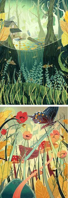 illustration by Kailey Whitman   nature illustration   butterflies   nature art