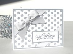 Handmade Wedding Card Sterling Silver by TheHumbleShop on Etsy, via Etsy.
