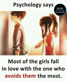 Psychology Says Most of the girls fall in love with the one who avoids them most. Urdu Quotes, New Quotes, Funny Quotes, Inspirational Quotes, Crazy Quotes, True Love Quotes, Girly Quotes, Romantic Love Quotes, Love Failure Quotes