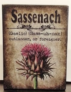 Outlander Fan Book Inspired Sassenach Custom by NikkisSecretCloset, $11.95