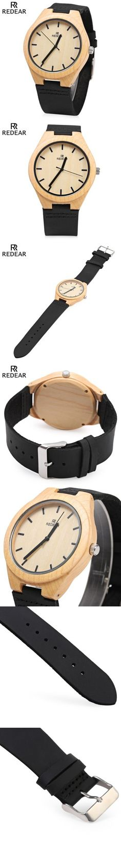 Mens Watches | REDEAR Wooden Quartz Male Watch