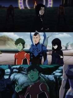 Raven and Beast Boy from the Justice League vs. Teen Titans trailer. tumblr_o1lfaf5xy61rmy0njo1_1280.jpg (1280×1705)