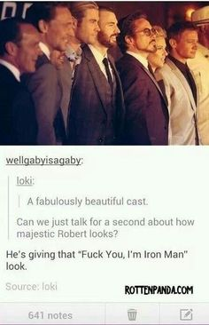 Majestic RDJ in The Avengers