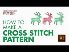 How to Create a Vector Cross Stitch Effect in Adobe Illustrator - YouTube