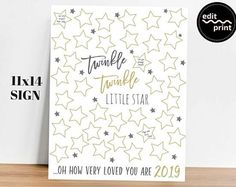Star Baby Showers, Baby Shower Parties, Guest Book Sign, Guest Books, Baby Shower Signs, Twinkle Twinkle Little Star, Trendy Baby, Baby Shower Invitations, Invitation Set
