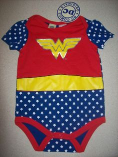 Wonder Woman Baby Girl DC Romper Onesie Bodysuit *Brand New*