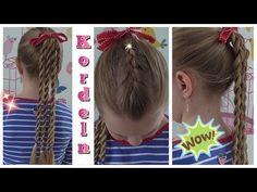 PFERDESCHWANZ♥Zopf mit KORDELN♥Zopf-Frisur für Mädchen/ Tutorial - YouTube