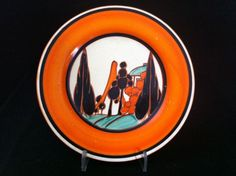 Banana Dance are long established and leading Clarice Cliff & Art Deco ceramics, glass, antiques and collectables dealers based in Northcote Road Antiques Market, Battersea, London in the UK. Clarice Cliff, Journal Themes, Antique Market, Ceramic Design, Orange Trees, Art Deco, Ceramics, Antiques