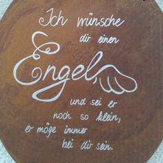 Engel Spruch Schild