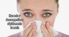 """Que terrible es cuando nos enfermamos de gripe y se nos """"tapa la nariz"""".     Cuando la nariz se congestiona tenemos que respirar por la..."""
