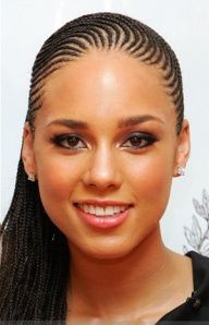 Nice Celebrity Hairstyles: Alicia Keys and her Braids