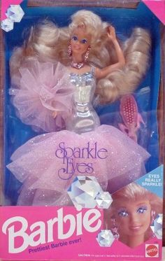 Fashion Doll: 1991 Sparkle Eyes Barbie 2482 Prettiest Barbie Ever ** Find out more about the great product at the image link.