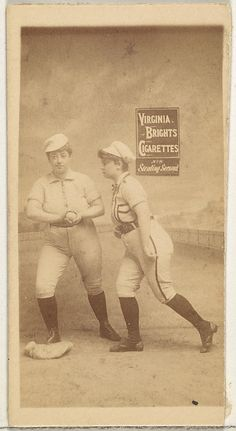 Stealing Second, from the Girl Baseball Players series Type for Virginia Brights Cigarettes Baseball Girls, Baseball League, Baseball Players, Baseball Stuff, Old Baseball Cards, Baseball Series, Classic Image, Growing Up, Virginia