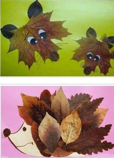 Collages of dried leaves creative ideas for the .- Collagen aus getrockneten Blättern kreative Ideen zum Selbermachen Collages of dried leaves creative ideas to make your own - Kids Crafts, Leaf Crafts, Fall Crafts For Kids, Thanksgiving Crafts, Toddler Crafts, Preschool Crafts, Projects For Kids, Art For Kids, Craft Projects