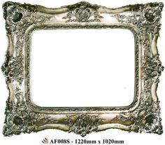 Mirrors : Baroque Style Ornate Silver Mirror
