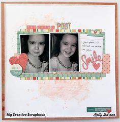 I am a guest designer for My Creative Scrapbook kit club and this is my first layout with the main kit.