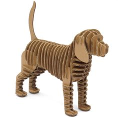 Crembo Design Animal Puzzle Dog Cardboard Free Standing New Eco . Cardboard Sculpture, Dog Sculpture, Sculpture Lessons, Sculpture Ideas, Art Sculptures, Cardboard Furniture, Cardboard Crafts, Cardboard Design, 3d Cuts