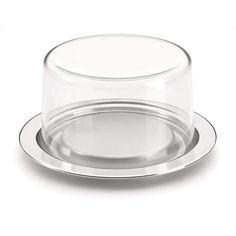 Camicado - Porta Queijo Vision 17cm Incolor e Inox - Forma