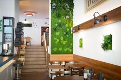 Obraz zielony w restauracji, niezwykle dekoracyjna kompozycja.
