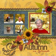 Ideas for Scrapbookers: A Template for your Fall Photos!  Nice sketch for portraits