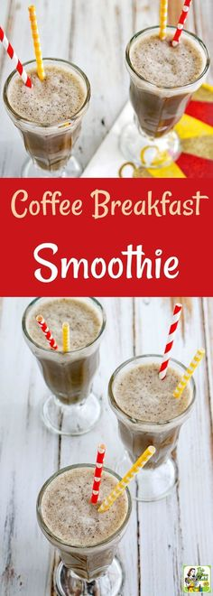Try this Coffee Breakfast Smoothie recipe as an easy way to start your day with a boost of chocolate flavored coffee, almond milk, and cherries! This easy coffee smoothie recipe makes a healthy afternoon snack or post-workout drink. This coffee shake reci #coffeedrink