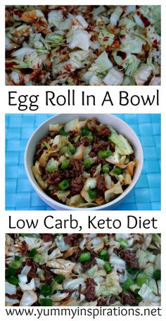 Egg Roll In A Bowl Recipe - Low Carb, Keto Diet