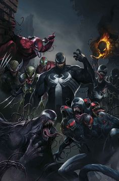 """sent me a link to Bleeding Cool article about Marvel's new project. First things first, because it has to be said: Okay, now seriously: """"Edge Of Venomverse is a new mini-series spinning out of the Venom series, with a Marvel. Dc Comics, Venom Comics, Marvel Venom, Marvel Villains, Marvel Heroes, Captain Marvel, Thor Marvel, Captain America, Comic Movies"""