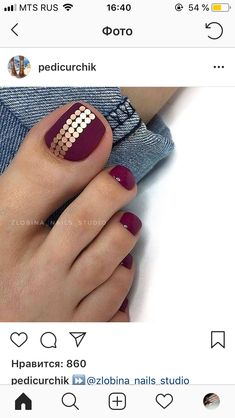 Cute Nail Designs For Spring – Your Beautiful Nails Pedicure Designs, Pedicure Nail Art, Toe Nail Designs, Toe Nail Art, Cute Toe Nails, Fancy Nails, Diy Nails, Nails Studio, Feet Nails