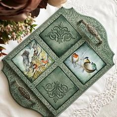 Хэштег #цветлондон в Instagram • Фото и видео Fun Crafts, Diy And Crafts, Arts And Crafts, Decoupage Drawers, Pallet Boxes, Painted Trays, Mosaic Crafts, Shabby Vintage, Wooden Letters