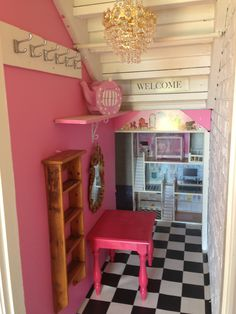 We converted our ugly under the stairs storage into a beautiful toy room for our little girl. Cost $340AUD