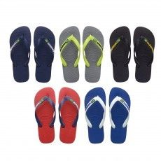 De @havaianas Brasil Logo #slippers voor heren zijn praktische teenslippers voor in de zomer en op vakantie.