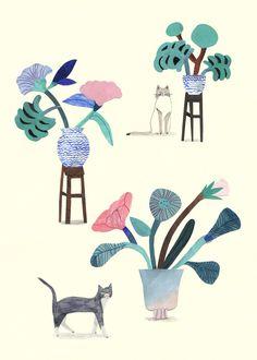 Les Chats - Laura Kientzler - L'Affiche Moderne