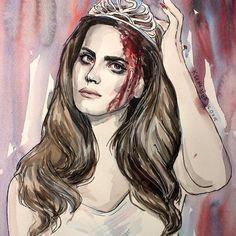 Lana Del Rey #LDR #art by Koroleva Razmazni