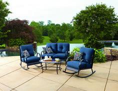 La-Z-Boy Outdoor Avery 4 Piece Seating (Blue)