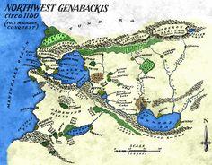 Northwest Genabackis map