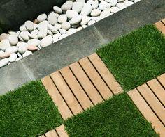 Garden Tiles Rustic And Artificial Grass Tropical Floor Tiles