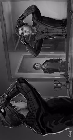 Ryan Meinerding Spider-Man Homecoming concept art.
