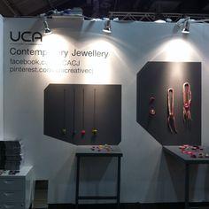 UCA Rochester Contemporary Jewellery Graduate stand, 2014.