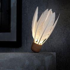 Home > Lamp: Shuttlecock Lamp = Shuttlecock - Cut Bottom for Stability - Light Bulb Cutout - Hole for Chord