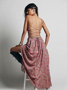 Free People Strappy Tie Back Dress