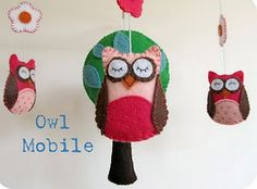 owl mobile with template and tutorial