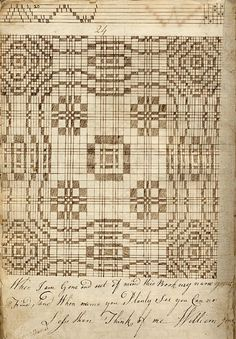 Description Pattern book of William Jones, weaver from Holt, [image 1 of Loom Knitting Patterns, Weaving Patterns, Textile Patterns, Knitting Stitches, Quilt Patterns, Stitch Patterns, Knitting Tutorials, Free Knitting, Tapestry Weaving