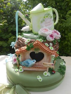 sweet garden — Birthday Cakes--wow the detail on this whimsical cake is amazing