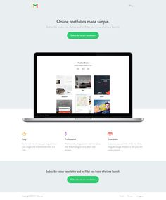 Material Landing Page