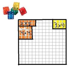 Area and Perimeter Game--simple and a great practice for multiplication as well