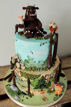 Celebration Cakes - Sweet As Sugar Cakes Twin Boys Birthdays, Gruffalo Party, Cake Pop Designs, Woodland Cake, Sugar Cake, Painted Cakes, Spice Cake, Cake Cookies, Cupcakes