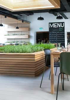 Interieur restaurant Stenden University   Achterbosch Architecten Outdoor Furniture Sets, Outdoor Decor, Cafe Restaurant, Studio, Interior, Table, Design, Home Decor, Minimalism