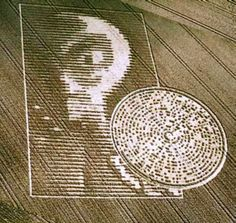 "This 180 meter long crop circle appeared overnight on August 15 2002 in Crabwood, Hampshire UK. The disk the alien holds is a binary code message, which translated states, ""Beware the bearers of FALSE gifts and their BROKEN PROMISES. Much PAIN but still Time. (damaged word – probably BELIEVE). There is GOOD out there. We Oppose DECEPTION. Conduit CLOSING (BELL SOUND)."""